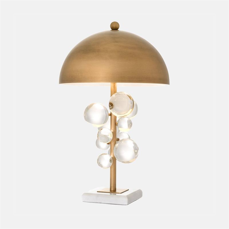 Berömda Bordslampa med glasdekoration - Mariella Interiors BL-38